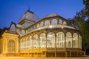 Crystal palace in Buen Retiro park
