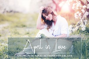 Spring Bundle: PS Actions + Overlays