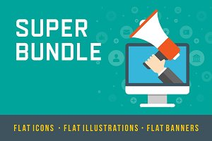 Flat design big bundle