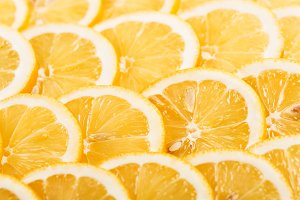 Background texture of sliced lemon.