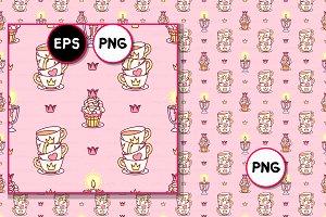 ♥ vector Royal sweets pattern