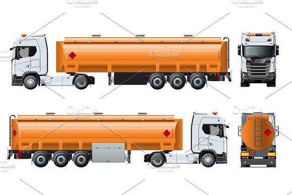 Vector Realistic Tanker Truckn