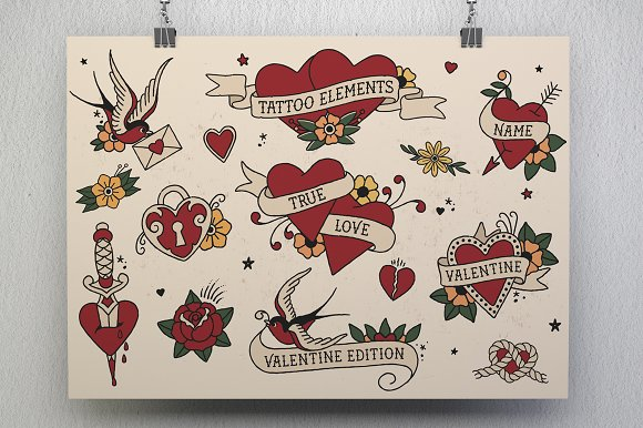 Tattoo Elements Love Edition