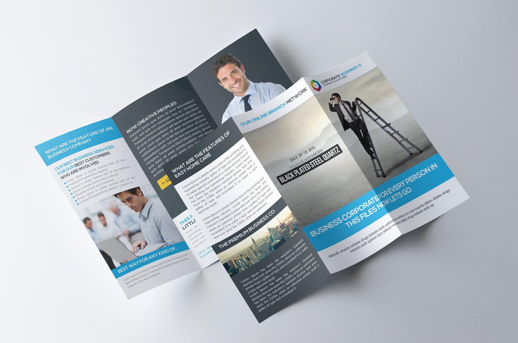 corporate trifold brochure template brochure templates creative market