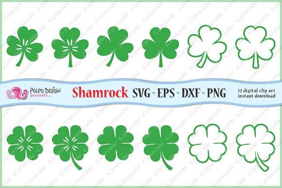 SVG Shamrock clip art