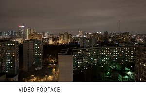 Industrial city time lapse by night
