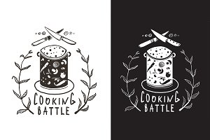 Cooking Battle Sign and Label Design