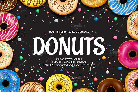 Donuts Realistic Set