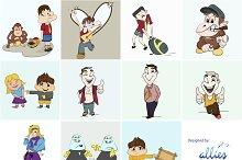 Cartoon Characters (EPS, PNG, JPG)