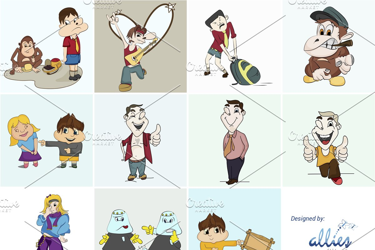 100 Pictures Cartoon Characters cartoon characters (eps, png, jpg)