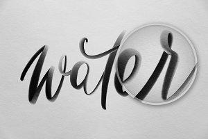 Procreate Wet Brush Pen - Lettering