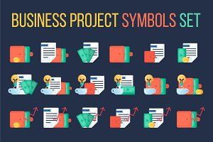 Business Project Symbols Set