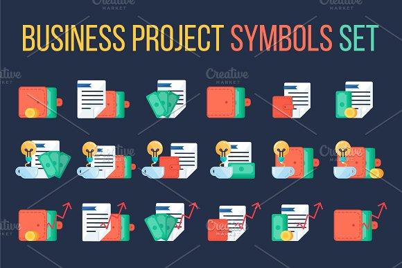 Business Project Symbols Set