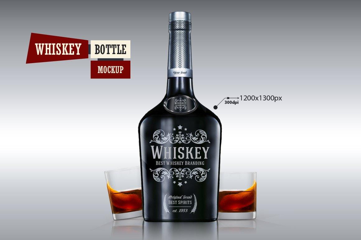 whiskey bottle mockup product mockups creative market