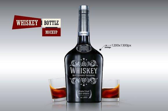 Download Whiskey Bottle - Mockup