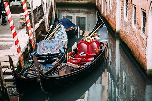 Traditional gondola in water