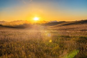 Sunrise in the Bighorn Mountains