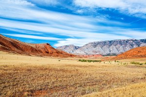 Colorful Wyoming Landscape