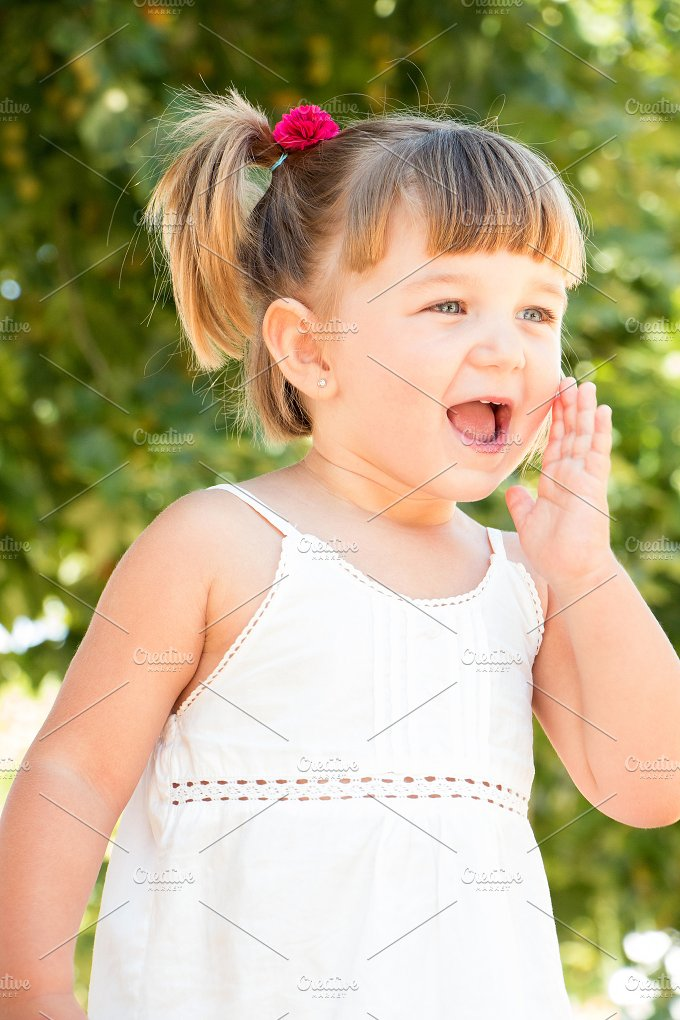 Little girl calling.jpg - People