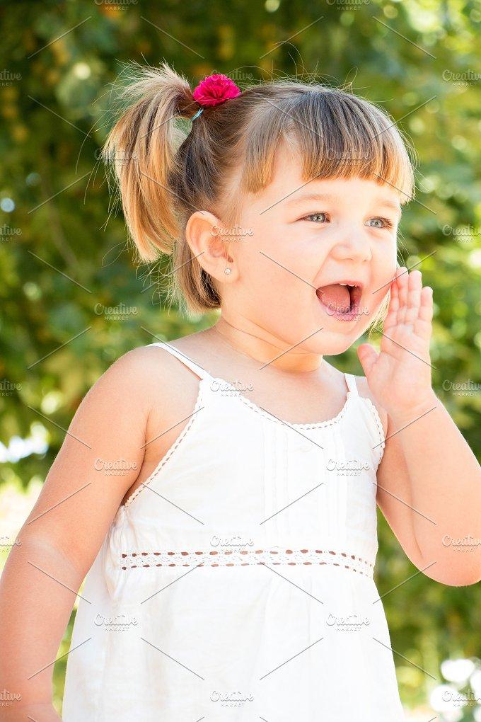 Little girl calling.jpg - People