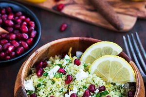 Delicious healthy cous cous salad