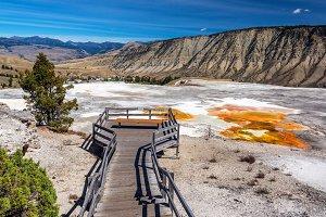 Mammoth Hot Springs Main Terrace