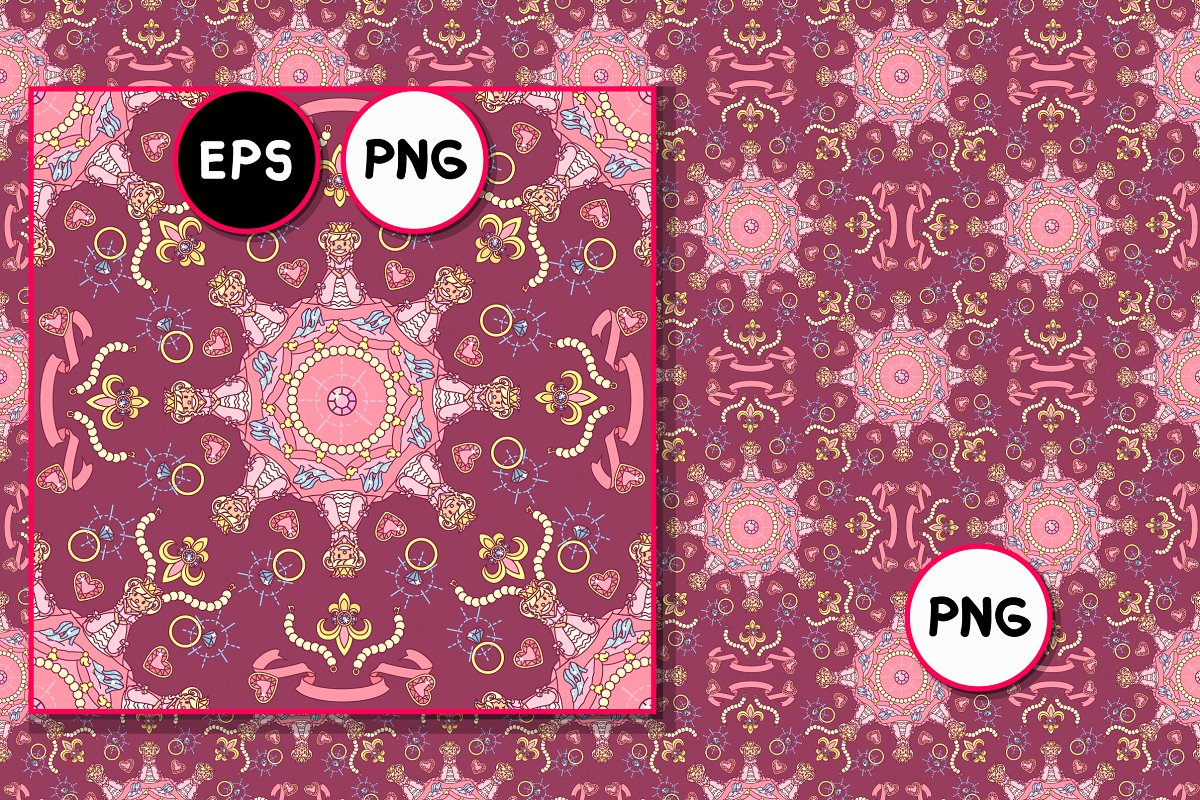 ♥ vector Royal seamless pattern