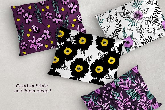 Watercolor Violet Flower Set in Illustrations - product preview 2