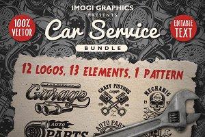 Car service logos & elements