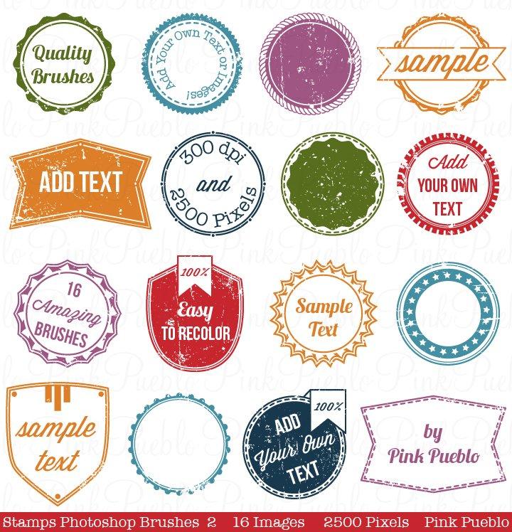 Stamps Photoshop Brushes 2 ~ Brushes ~ Creative Market