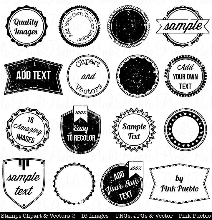Stamps Clipart Vectors 2 Illustrations Creative Market