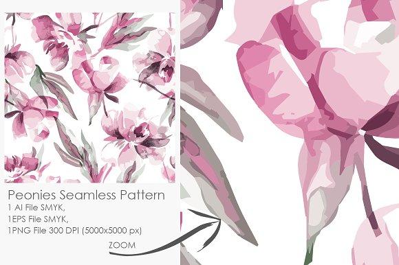 Peonies Seamless Pattern 3