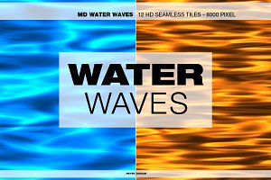 MD - Water Waves - HD Seamless Tile