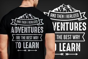 6 Saying Adventure T-Shirt Design