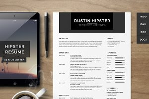 Resume/CV Set - The Hipster