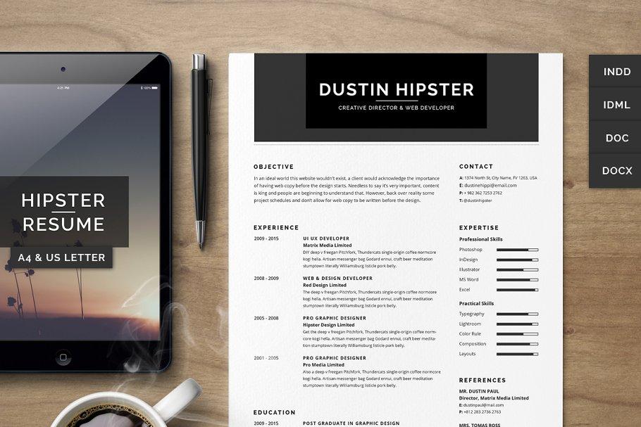 Resume/CV Set - The Hipster