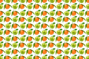 Bright pattern fresh fruits