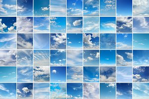 Large collage with clouds