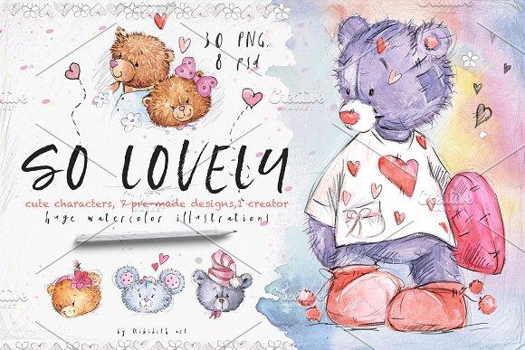 SO LOVELY BEARS+ 1 MOUSE :) in Illustrations