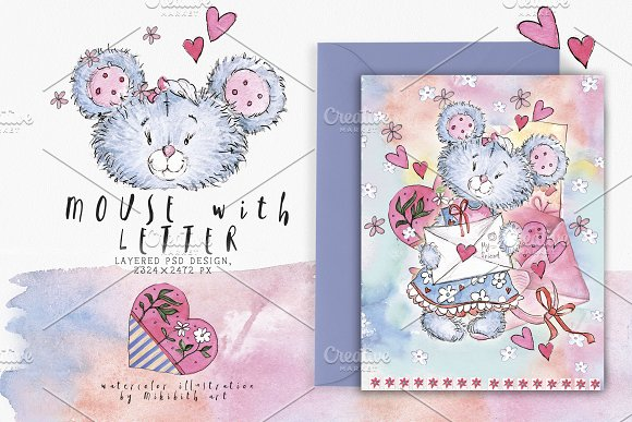 SO LOVELY BEARS+ 1 MOUSE :) in Illustrations - product preview 7