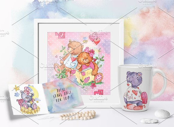 SO LOVELY BEARS+ 1 MOUSE :) in Illustrations - product preview 10