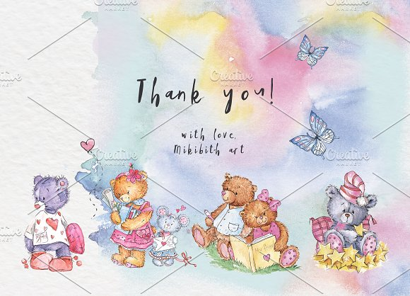 SO LOVELY BEARS+ 1 MOUSE :) in Illustrations - product preview 11
