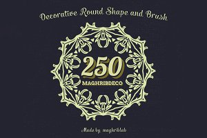 250 Decorative Round Shape and Brush