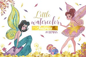 Little Fairies Watercolor set!