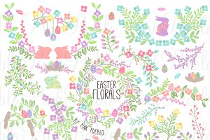 Vintage Easter Flowers & Laurels