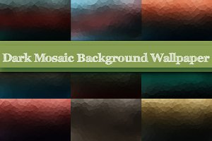 Dark Mosaic Background Wallpaper