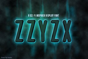 ZZYZX ~ Sci-fi Inspired Display Font