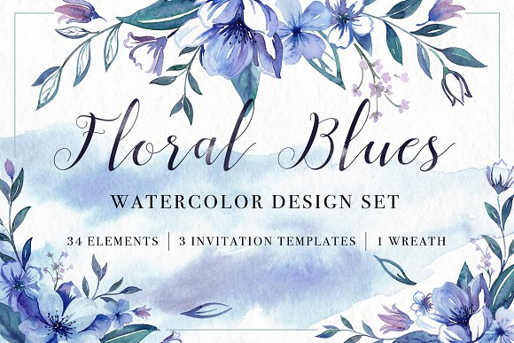 Floral Watercolor Bundle in Illustrations - product preview 3