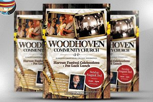 Woodhoven Harvest Flyer Template
