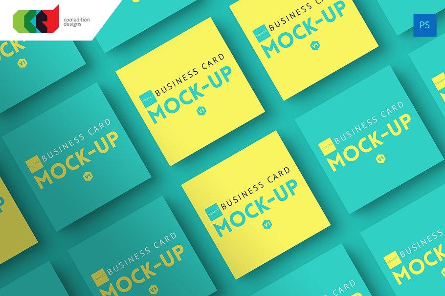 Square business card mock up v1 product mockups creative previous colourmoves